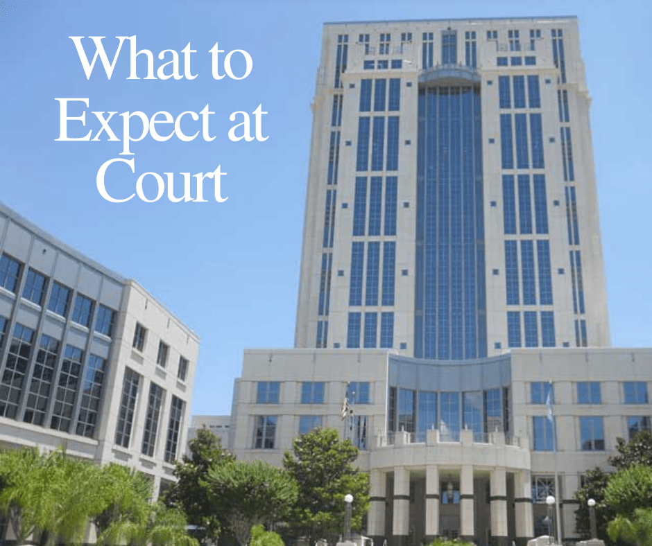 what to expect at court